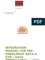 AADHAAR Registrar Integration Manual v1.0(RC 4) Beta