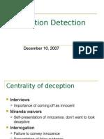 12.10.07 - Deception Detection