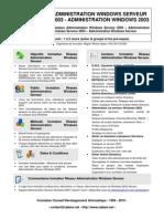 Formation Reseau Administration Windows Serveur