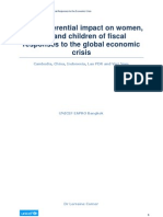 Lorraine Corner Gender Analysis of Fiscal Responses to the Global Crisis 21DEC 2009