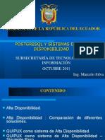 Presentacion Alta Disponibilidad Postgres