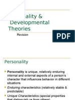 Revision on Dev Theory and Personality
