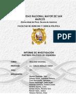 Estudio de los Partidos Políticos de Izquierda en el Perú
