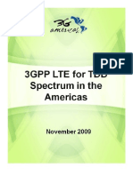 3GPP LTE for TDD Spectrum in the Americas - 4G Americas