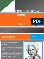 Perkembangan Sosial & Emosi (Erik Erickson)