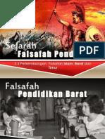 Sejarah Falsafah Pendidikan Barat, Timur & Islam