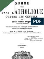 Somme de La Foi Catholique Contre Les Gentils (Tome 1)