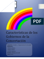Características de los Gobiernos de la Concertación