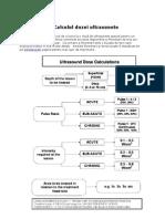 Calculul dozei ultrasunete
