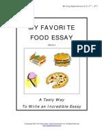 essay on favorite food