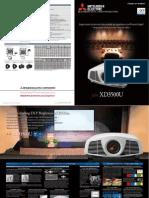 Mitsubishi XD3500U Product Sheet