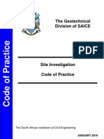 Site Investigation Code of Practice