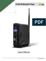 MX780HD Manual