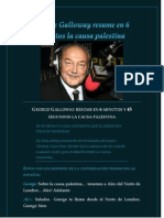 George Galloway Resume en 6 Minutos La Causa Palestina