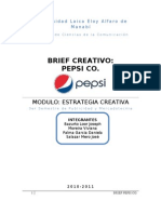 Muestra de Brief Creativo -Pepsi Co