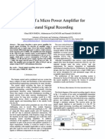 Design of a Micro Power Amplifier for Neural Signal Recording DTIS 2009