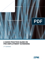 Good Practice Guide - Pre-Employment Screening Edn2