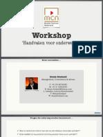 Workshop - Handvaten Voor Onderweg - MCN
