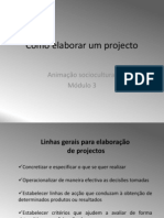 Como Elaborar Um Projecto