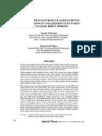 Kajian Daktilitas Struktur Gedung Beton Bertulang Dengan Analisis Riwayat Waktu Dan Analisis Beban Dorong