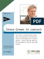Streve Green Concert