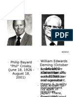 Crosby vs Deming