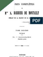 Oeuvres Completes de Mgr X.barbier de Montault (Tome 10)