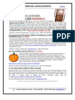 GSA Announcements October10th 2011