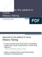 Approach to the Patient in Coma - History Taking