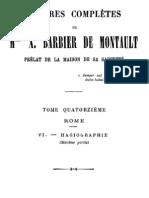 Oeuvres Completes de Mgr X.barbier de Montault (Tome 14)