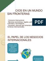 Negocios en Un Mundo Sin Fronteras
