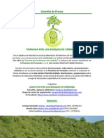 "2da Gacetilla ""Jornada Por Los Bosques de Cordoba"""