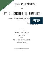 Oeuvres Completes de Mgr X.barbier de Montault (Tome 16)