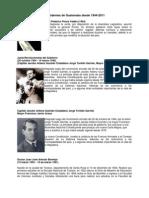 Presidentes de Guatemala Desde 1944-2011