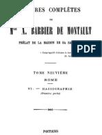 Oeuvres Completes de Mgr X.barbier de Montault (Tome 9)