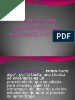 Técnicas de evaluación en educación inicial