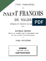 Oeuvres Completes de Saint Francois de Sales (Tome 2)