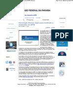 Sociologia oferece vagas para mestrado e doutorado na UFPB _ Universidade Federal da Paraíba