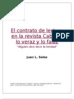 El Contrato de Lectura en La Revista Cabildo