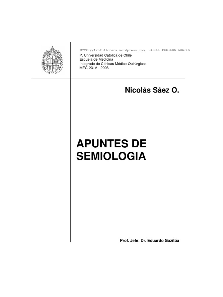Manual de semiologia medica pdf.