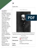 Josef Breuer - Wikipedia, La Enciclopedia Libre
