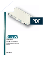 Adtran MX3112 Manual