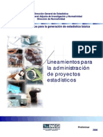 2 Administración de Proyectos Estadísticos