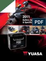 2011 Yuasa Apps Specs