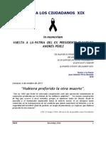 Carta a Los Ciudadanos Xix Vuelta a La Patria