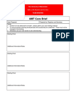 Example Core Brief Template
