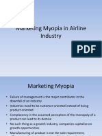 Marketing Myopia in Airline Industry
