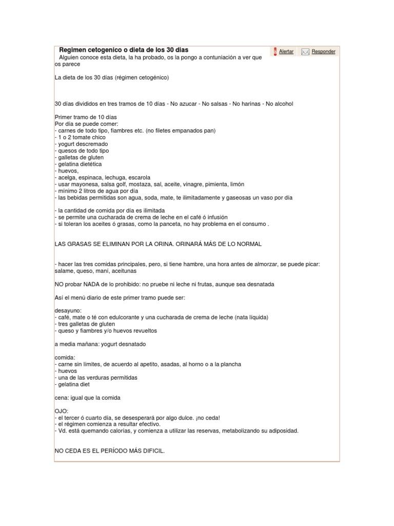 menu dieta cetosisgenica primer tramo