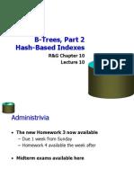 10 B Tree Hash Index