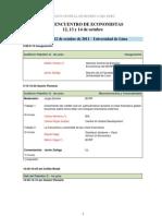 Programa Encuentro de Economistas BCRP - 2011